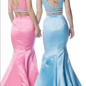 New Sherri hill two piece size 10 Blue